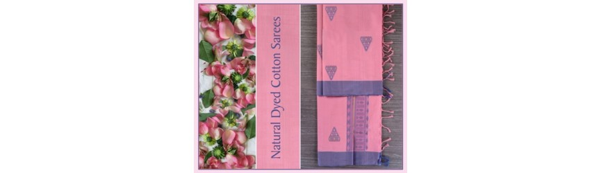 Natural Dyed Cotton Sarees