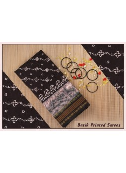 Batik Printed Cotton Sarees